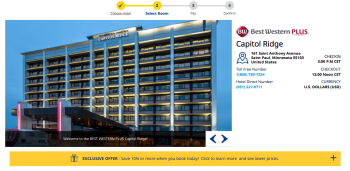 Read the Details on this one, incl. What's nearby:https://www.bestwestern.com/en_US/book/hotels-in-saint-paul/best-western-plus-capitol-ridge/propertyCode.24104.html