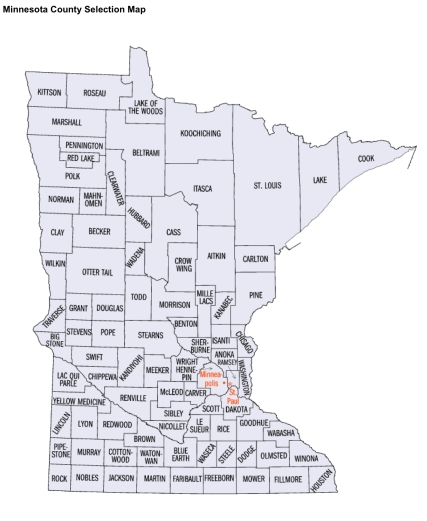Minn. County Map from US Census Bureau