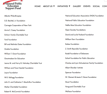 On the website http://www.npesf.org/efsg-members# (not my image) those names link to each organization's website, although this isn't clear until you actually click