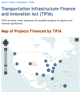 https://www.transportation.gov/tifia. See also other related sites for more info on this.