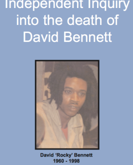 "From the UK Guardian, and from the ""Independent inquiry into the death of"" document, at http://image.guardian.co.uk/sys-files/Society/documents/2004/02/12/Bennett.pdf"