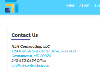 """Shares exact street/Suite# with fatherhood.org as of 1/30/2017: NHL Contracting.com (""""LLC"""") Michele Orisme since 2015"""