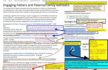 "Click here to read annotated Image 3 of 3 on Child Welfare Info Gateway, where I ""read 'em the riot act"" for finally ""coming out"" on fatherhood engagement (while completely omitting the use of the word ""mother"" on all three levels...."