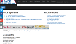 PACE (@Stanford GSE) Funders + Sponsors (Fndtns) Screen Shot 2017-05-26 at1.50PM