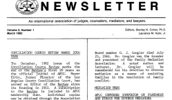 AFCC 1983 March (Vol2No1) Newsltr (p1 top only) This one announced NCSC as AFCC Secretariat (SShot 2017JULY12 at11.08AM)