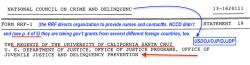 NCCD (EIN#131624111 p5 of 5 ONLY (Statmt19 cont'd) RRF FY2010 (ends Jun2011) Gov't Grants Regents of UC Santa Cruz and USDOJ*OJP*OJJP* SShot 2017-07-13 at6.12PM
