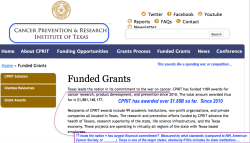 Cancer-Texas' $3B 2009ff CPRIT (and Director A Gilman's 2012 quitting, in Science news see also in SmokersHistory'com) SShots 2017Oct05 Thu @6.44.32PM