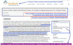IssueLab (a Fndtn Ctr service) Dec 11 2013 'Guns Public Health+Mental Illness=an Evidence-Based Appr for FED POLICY' (Whitepaper by the Consortium for Risk-Based Firearm Policy)SS