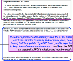 AFCC's FCR seeking a new Editor (ca 2015) stating loyalty req'mts and other interesting info~ SShots 2018Jan5 Fri @7.47.16PM