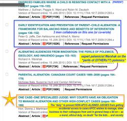 FCR January 2010 (in 4 images) referencing Overcoming Barriers and Family Bridges, (Deutsch, Ward, Sullivan, Warshak, Fidler, et al) SShots 2018Jan5 Fri @7.51.32PM