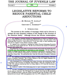 """This journal is published by the LaVerne College of Law, (California) started only 1970 in Ontario and notable, had significant problems getting ABA accredited (first-time Bar Exam takers per wiki, were only ca. 31% vs. the average of ca.. 62%). California Lutheran College (became Univ. only in 1986) is affiliated (still) with Church of the Brethren (see Wiki for more). Both authors got their PhDs from USC (in diff't yrs). Agopian elsewhere also called a """"sociologist."""""""
