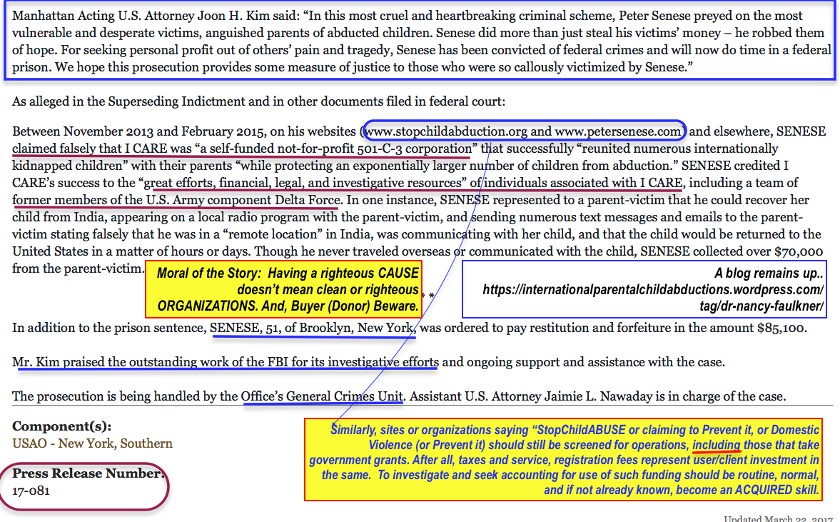 USDOJ+FBI nab ICareFndt\'n | Peter Senese (who quoted Faulkner) for ...