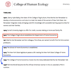 Cornell's College of Human Ecology (cf Bronfenbrenner), History (about 5 images) ~~ 2018Feb17 Sat@2.25.33PM