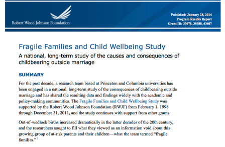 RWJF Program Results Rpt Jan 28, 2014 (3 grants, Fragile Families Study) --SShot 2018Feb7 Wed @7.02.00 PM