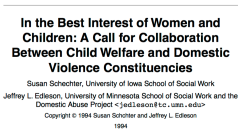 Shechter+ Edleson © 1994, Wingspread Conf Briefing Paper, In the Best Int's of W&C – a CALL FOR COLLABORATN bwt CW and DV ~Constituencies~ (sic)–SShot 2018Feb7 Wed @5.35.25PM