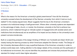 The Design of the University   German, American and World Class (Heinz-Dieter Meyer, 2016, Google Bk, 11 images) ~~ 2018Feb17 Sat@4.00.14 PM00001
