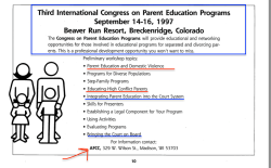 AFCC Winter 1997 (Vol16#1) Newsltr (annotated, incl Garbarino, Parent Ed programs conf in Denver) ~~2018May3 Thu @3.13.48 PM00005