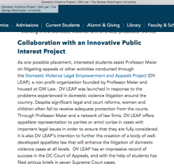 GWU and its Law Programs incl DVProject (Joan Meier) DVLEAP refs also NNEDV, AYUDA, Tahirih Justice Institute nearby) ~~2018May10 Thu @ 6.33.26PM