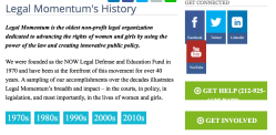 Legal Momentum (formerly NOW LegDefFund) By the Decades, accessed ~~2018May8 Tue @7.15.59 PM00001