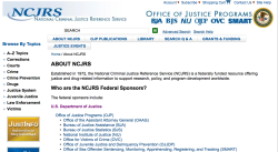 NCJRS about us for FCM Post 5-8-2018 (How Relevant is AFCC?) ~~2018May8 Tue @6.22.38PM