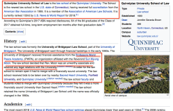Quinnipiac U School of Law Wiki (referencing the Unification Church issues) ~~SShot 2018-05-12 at 8.08.02PM