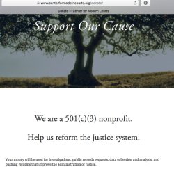 CenterforModernCourts'org DONATE page ~ SShot 2018May30@4.23PM