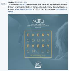 NCJFCJ cover Annual Rept 2016-17 EVERY COURT EVERY CHILD 2018Jun21 @12.33.06PM
