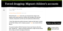 REVEAL'org (CIR = Cntr 4 Investigative Reporting) Immigrant Children Forcibly Drugged Lawsuit Claims (and, the kids' accounts) Sshots 2018Jun25 Mon @ 6.40.49PM