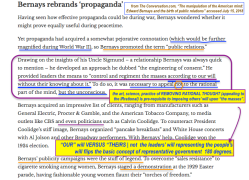 Edward Bernays (from his Wiki + from TheConversation'com, The Manipulatn of the American mind..birth of public relations) ~Screen Shot 2018-07-15 at 1.51.29PM