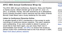 for LGH FCM 2018Dec7 post (Center4DivorceEduc,Rule34,CuyahogaCountyOH)   AFCC 2011 (48th Annual Conf,OrlandoFL)Wrap-Up (Notice P Leslie Herold(Solutions4Families), NuffieldFndtn etc ~~5