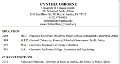 Cynthia Osborne CFRP @UTexas-Austin,LBJ SchoolPublicAffairs AND now FRPN'org | CV shows Princeton U (McLanahan et al, WoodrowWilson|BendheimThomas) ~~ 15 Sshots 2019Apr18 PST@11.23.38 AM4