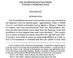The Rooker-Feldman Doctrine | Toward a Workable Role by (JD Candidate) Adam McClain, 2001, Law'Scholarship'UPENN'edu ~~ 2 SShots 2019May2 Fri PST@4.51.05PM