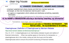"For my post 'Mix-n-Match, Mis-understood Terms' near publication June 10, 2019 Image #1 of 5, ""Clearinghouse"" definition sought through Google Search (top results, See my annotations!"