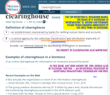 "For my post 'Mix-n-Match, Mis-understood Terms' near publication June 10, 2019 Image #2 of 5, ""Clearinghouse"" definition sought ℅ Google Search (top results, See my annotations!"