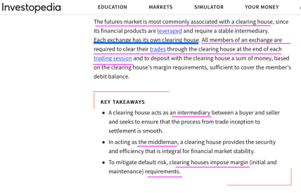 "For my post 'Mix-n-Match, Mis-understood Terms' near publication June 10, 2019, INVESTOPEDIA, Image #4 of 5, ""Clearinghouse"" definition sought ℅ Google Search (top results, See my annotations!"