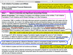 'Truth Initiative Foundation and Affiliate' Audited Consolidated FS FYE2018,2017 Consolidated (YEJun30| my 1st look at 'em) ~~28 images (seeAlso pdf), 2019Aug15 PST @1.46.20PM
