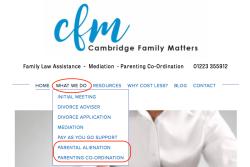 CfM means 'CambridgeFamilyMatters.com' (℅ #CoP4C Mar 21 2019 AFCC-Cafcass Conference, @BelindaAJones)~~> some Screen Shot 2019-10-23 at 1.31.33PM