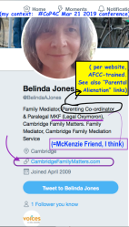 #CoP4C find, @BelindaAJones, CambridgeFamilyMatters.com (Apri2009ff, fairly inactive, followed by VoicesInTheMiddle) ~~SShot 2019-10-23 at 1.30.18PM