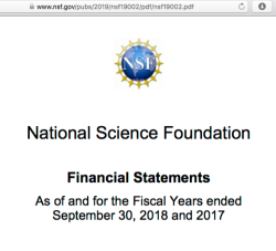 NSF Natl Science Fndtn FY2018 AFR (MDA, Notes), some Awards, Its 'Wall'Mural & History (SeeAlso VannevarBush in re Clark C Apt + the HHS) ~~48 imgs (so far!)~019Oct13 SUN PST @11.39.29 AM26