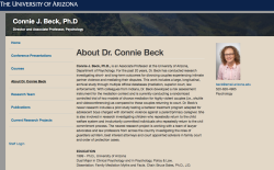 Connie Beck PhD (Psych) (Beck,CJA) UnivAZ Tucson ~~ Faculty Pg & CV~> AFCC NOT undercover (See Also Bruce D Sales PhD,JD (1960s,1973) mentor ~~19 Screen Shot 2019-11-08 at 4.03.38 PM1