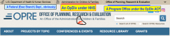 HHS NOMENCLATURE, **** HHS|ACF ('for') | OPRE (Dept,OpDiv,ProgramOffice) Banner for OPRE ~ SShot 2020-02-28 at 3.08.58PM